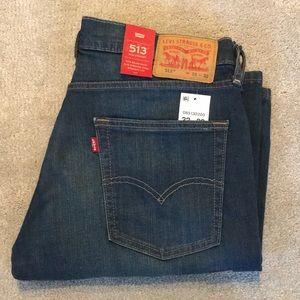 Levi's: Dark Slim Straight Stretch Jeans